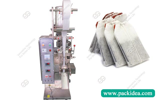 Double Chamber Tea Bag Packing Making Machine with String and Tag