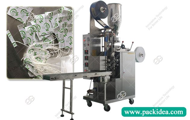 Inner Dip Sachet Tea Bag Packing Machine with String and Tag