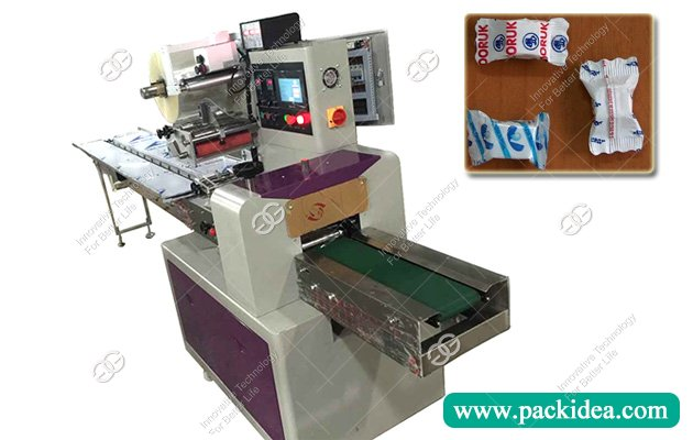 Horizontal Single Hard Candy Flow Wrap Packaging Machine For Sale
