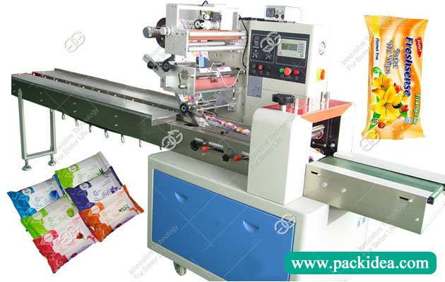 Horizontal Wet Tissue/Wipes Packing Machine In China