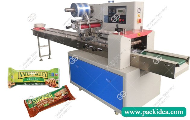 Horizontal Flow Pack Granola Bar Packaging Machine Supplier