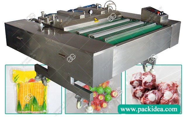 Continuous Automatic Vacuum Packing Sealing Machine For Food