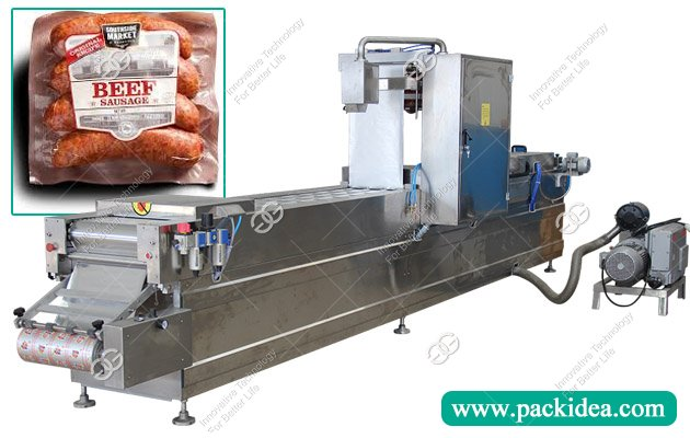 Automatic Stretch Film Thermoforming Sausage Vacuum Packing Machine