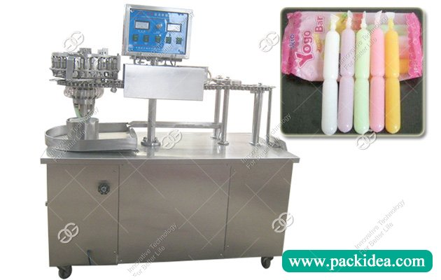 Ice Pop Jelly Strip Liquid Soft Tube Filling Sealing Machine
