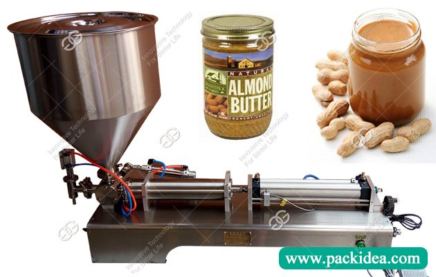Manual High Viscosity Peanut Butter Piston Filling Machine