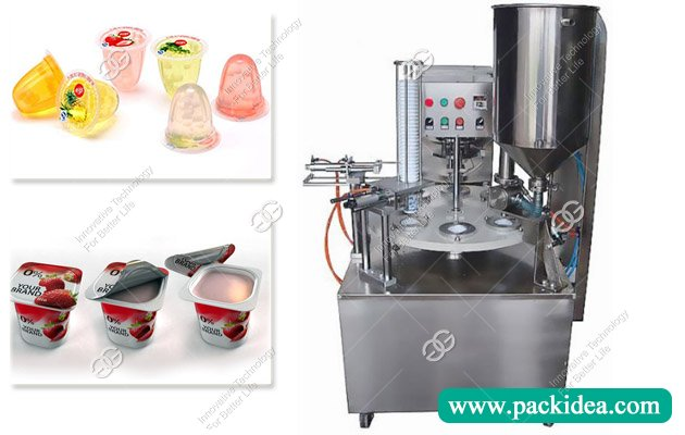 Rotary Yogurt Cup Filling and Sealing Machine