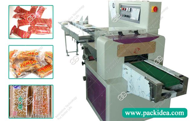 Peanut Candy Packaging Machine|Sesame Brittle Flow Wrap Machine