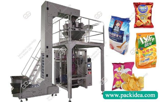 Automatic Frozen French Fries Banana Chips Packing Machine with Ten Head