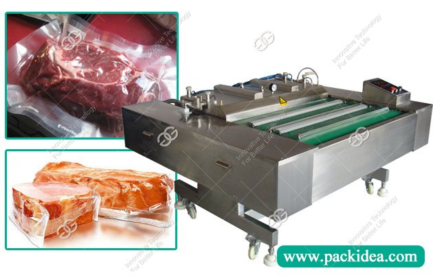DZ1000c Continuous Meat Vacuum Packaging Machine In China