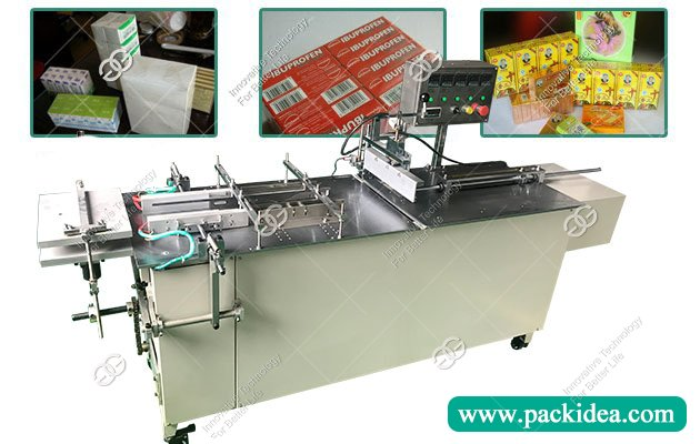 Semi Automatic Medicine Box Cellophane Packaging Wrapping Machine Manufacturer