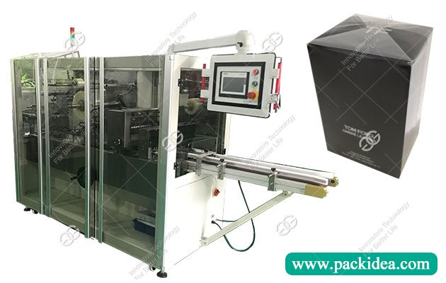 Cosmetic Box Wrapping Machine with Cellophane Film