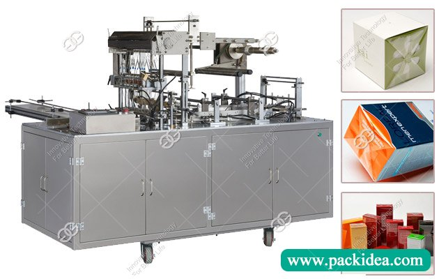 Cellophane Film Cosmetic Box Wrapping Machine
