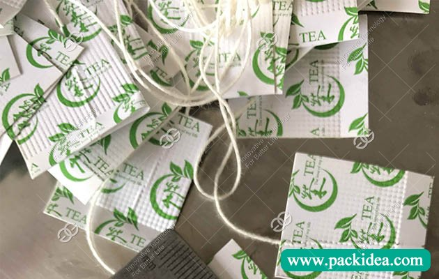 Tea Bag with String and Tag