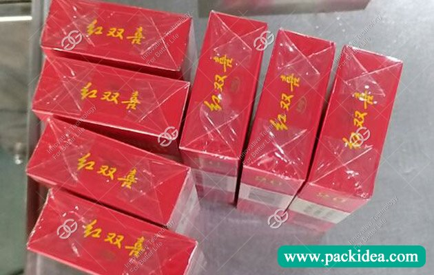 Cigarette Pack Cellophane Wrapping Machine