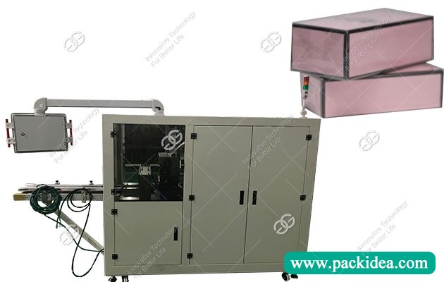 Cosmetic Box Cellophane Wrapping Machine